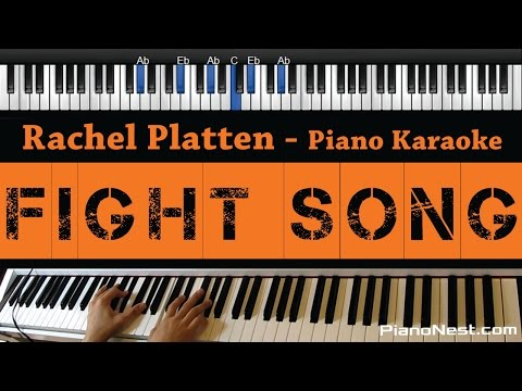 Rachel Platten - Fight Song - Piano Karaoke / Sing Along / Cover with Lyrics