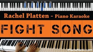 Download lagu Rachel Platten - Fight Song - Piano Karaoke / Sing Along / Cover with Lyrics