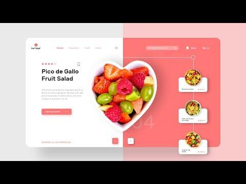 UI Design Tutorial | Website UI Designing In Adobe XD | UI Design Food Web App thumbnail