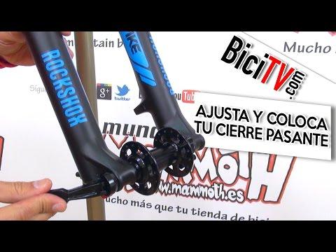 Cómo ajustar y colocar los cierres pasantes para rueda de bicicleta