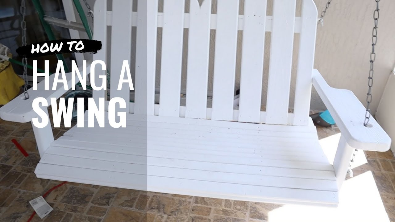 How To Hang A Porch Swing With Chains Youtube