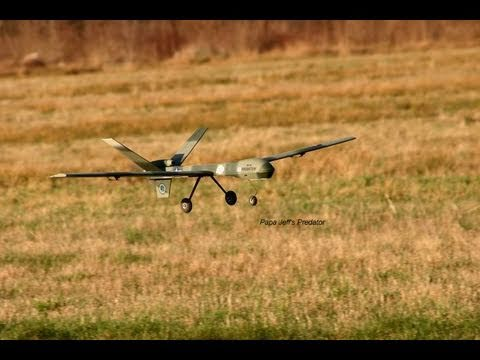 Brushless UAV RQ-1 Predator Flight Review