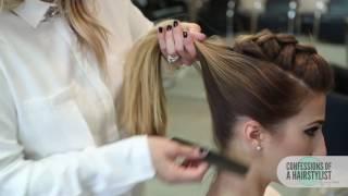 Модный тренд прическа корзинка на основе французской косы. Схема плетения корзинки фото видео, детские прически, на длинные волосы, на средние волосы, из косичек.