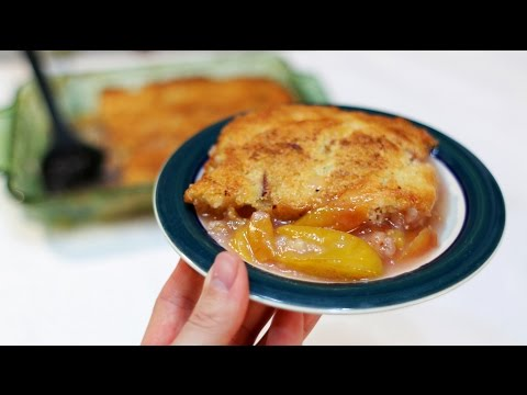 How To Make Peach Cobbler - Easy Homemade Peach Cobbler Recipe