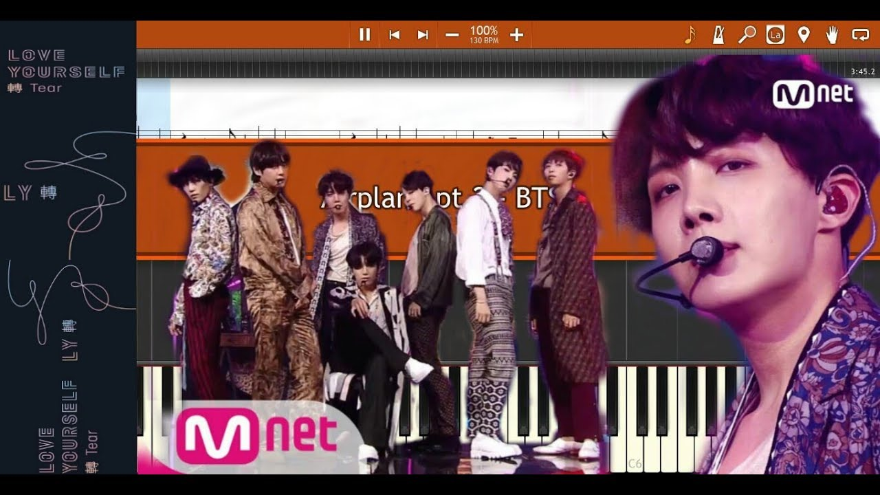 BTS - Airplane Pt 2 (Synthesia Piano Tutorial)