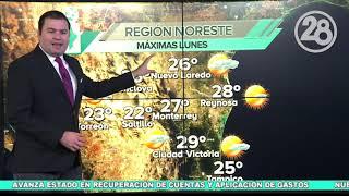 Clima para hoy Monterrey   24 febrero 2020   Canal 28