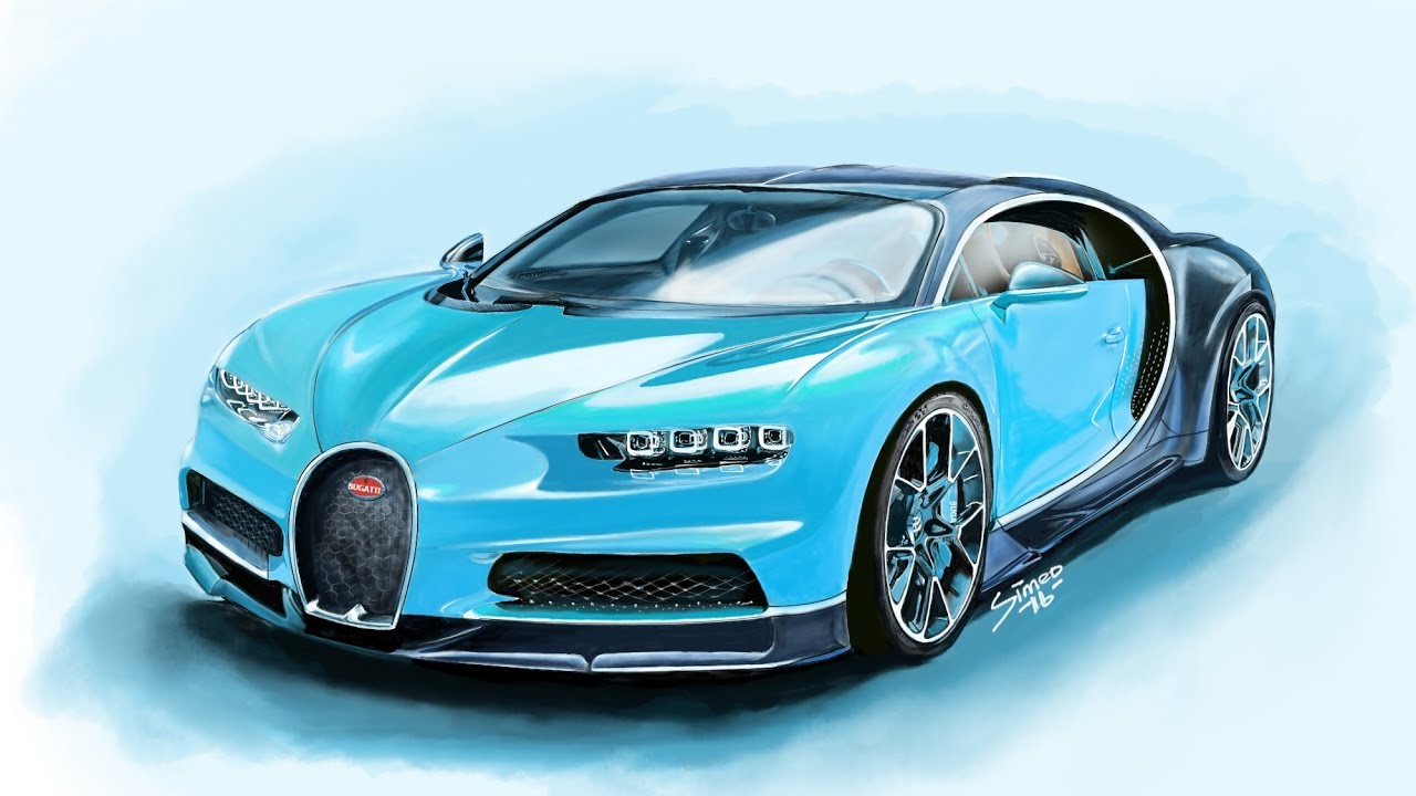 How to draw a bugatti chiron