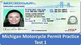 Michigan Motorcycle Permit Practice Test 1