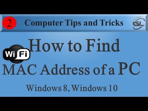 How to find MAC Adress of a PC Windows 10 , Windows 7