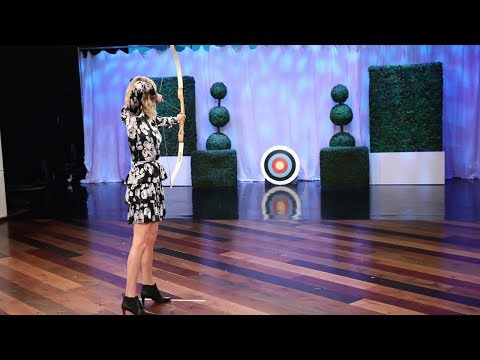 Charlize Theron Shows Off Her Archery Skills