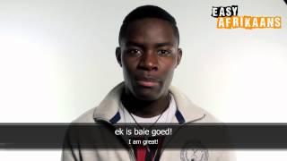 Easy Afrikaans Verbs - Wees: Ek is