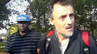 Hyde Park Speakers Corner: A Confused and Discombobulated Italian Christian!!! A MUST WATCH!!!