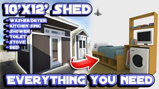 Converting A Shed Into A Tiny House | 3d Interior Design