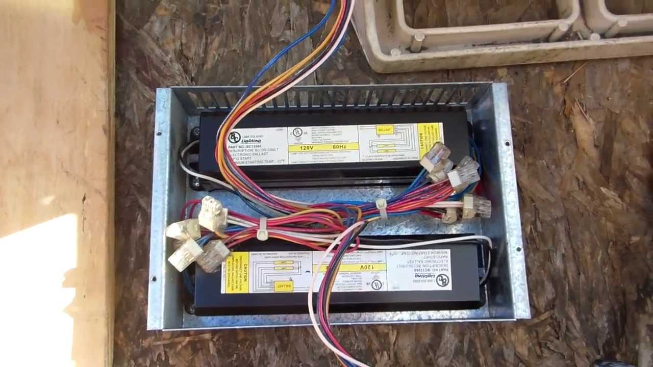 2 Door Freezer Lights What The Light Ballast Box Looks Like Youtube Wiring A