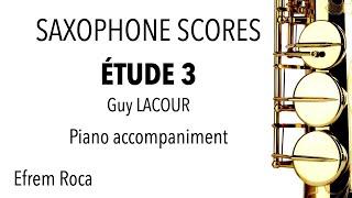 ÉTUDE 3 – Guy LACOUR – Piano accompaniment