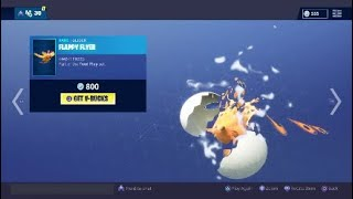 New Tender Defender Skin & Flappy Flyer Glider (Fowl Play Set) Fortnite Battle Royale