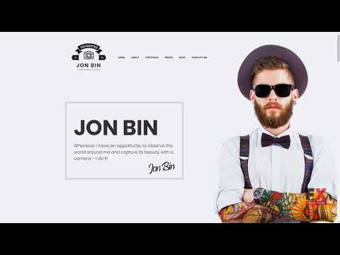 Jon Bin - Freelancer Photographer Portfolio Moto CMS 3 Template TMT B