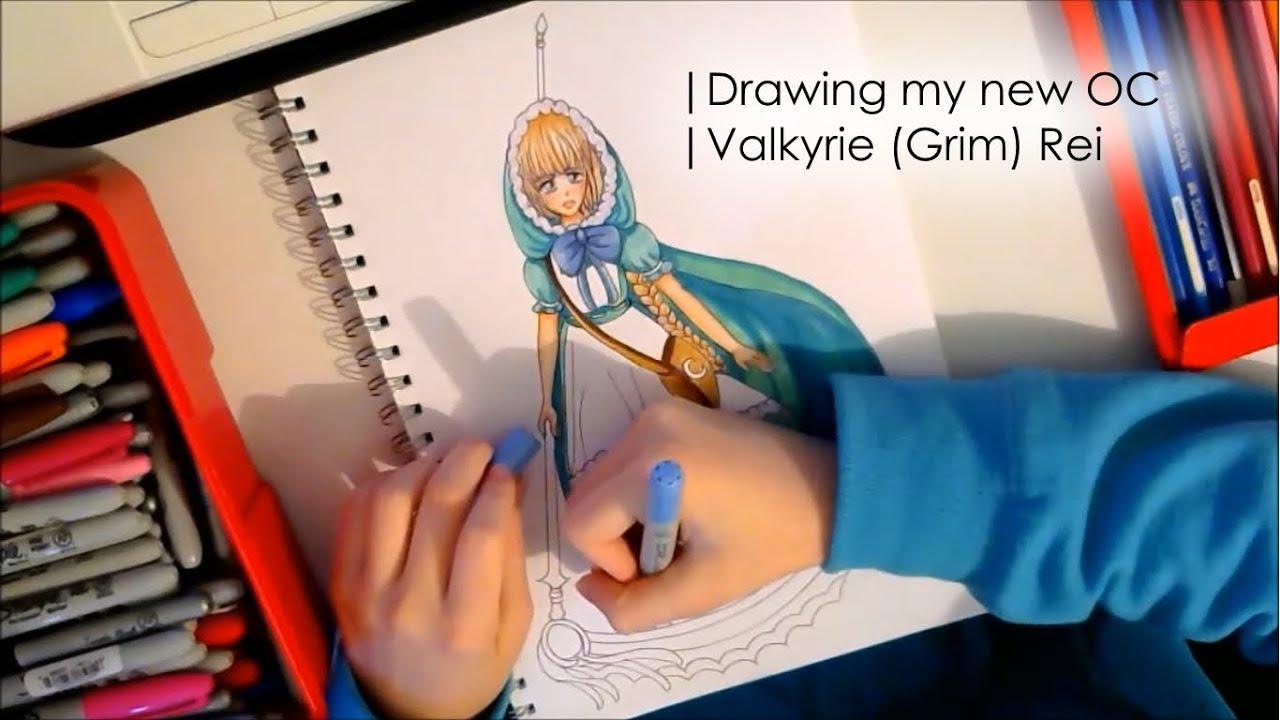 Drawing My Puella Magi Madoka Magica OC