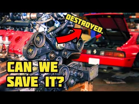 CAN WE SALVAGE THE DESTROYED FERRARI ENGINE??!  **FINGERS CROSSED** | 348 DIY MAJOR Service Part 12