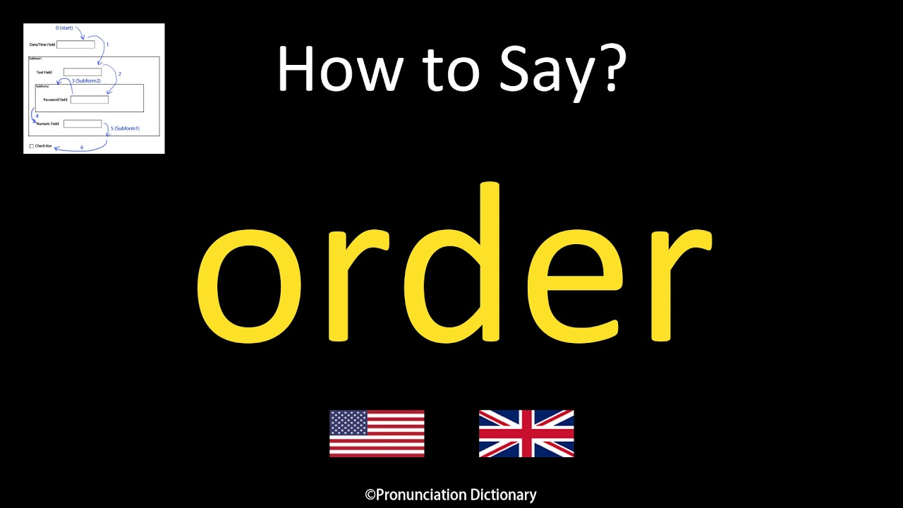 How to Pronounce order  British Accent & American Accent - YouTube