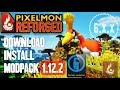 PIXELMON REFORGED MODPACK 1.12.2 minecraft - how to download and install Pixelmon 1.12.2 [modpack]