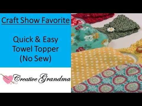 How To Crochet Quick And Easy Towel Topper