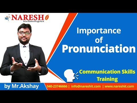 Importance of Pronunciation | English Communication Skills Tutorial | Mr. Akshay