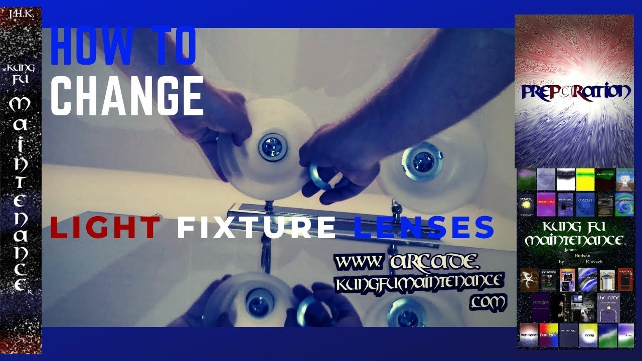 How To Take Down Bathroom Fixture Light Lenses For Cleaning Or Change Out Maintenance Repair