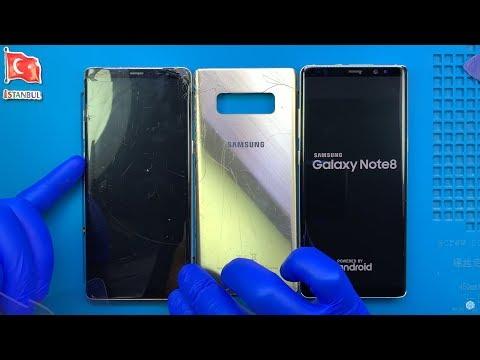 PARÇALANMIŞ! Samsung Galaxy Note 8 Ekran Ve Arka Cam Kapak Değişimi 🇹🇷