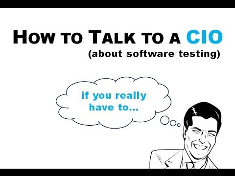 How to Talk to a CIO About Software Testing (If You Really Have to...)