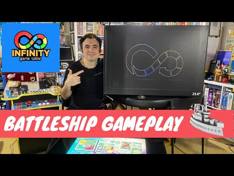 Infinity Game Table by Arcade1Up - Gameplay Showcase - Battleship Digital Board Game from UrGamingTechie