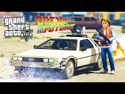 GTA 5 PC Mods - BACK TO THE FUTURE w/ DELOREAN TIME MACHINE MOD GAMEPLAY! (GTA 5 Mod Gameplay)