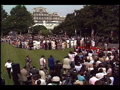 Cuts of Arrival Ceremony for Prime Minister Junejo of Pakistan on July 16, 1986