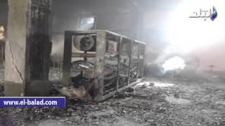بالفيديو والصور.. مصنع 'الهلال والنجمة' تحول إلى رماد إثر اندلاع حريق هائل.. وقوات الإطفاء تقاوم النيران لليوم الثاني