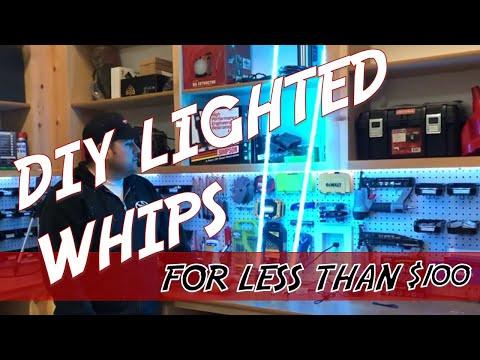 Lighted Whips for UTV - How to make your own Lighted Whips