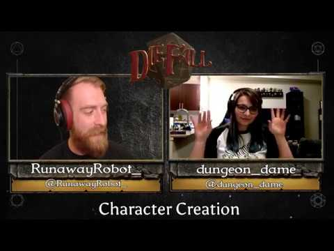 Dungeons and Dragons Character Creation for Warlock - Waterdeep: Dragon Heist - DieFall New Show