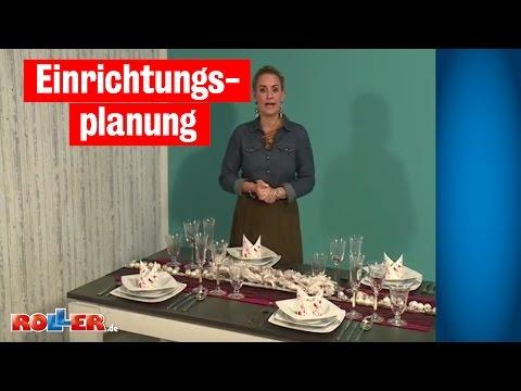 Einrichtungsplanung - Tisch-Deko