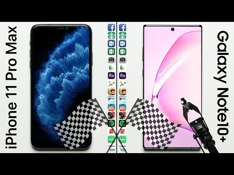 IPhone 11 Pro Max Vs. Galaxy Note 10+ Speed Test