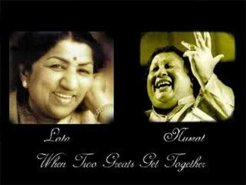 Two greats come together Lata and Nusrat