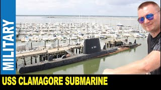 USS Clamagore submarine built in 1945 for United States Navy by Jarek Charleston South Carolina USA