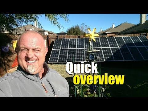 Four operational off-grid DIY homemade solar generators (generador)
