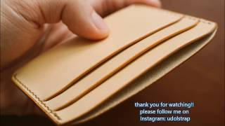 how to make a card holder, handmade wallet, hand stitched leather wallet