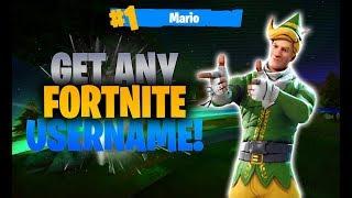 How to get ANY Fortnite Username! Fortnite Battle Royale Glitch