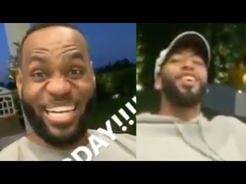 Anthony Davis Makes Himself At Home Enjoying Taco Tuesday With New BFF Lebron James' & Fam
