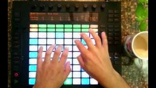 Lazy Saturday Ableton Push Jam - Tom Cosm Trio - Bit Rate Blues