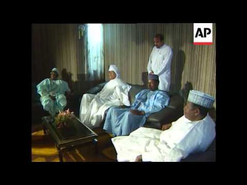 Nigeria - Gaddafi arrives to celebrate holiday
