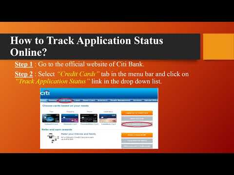 CitiBank : Check Credit Card Application Status – www