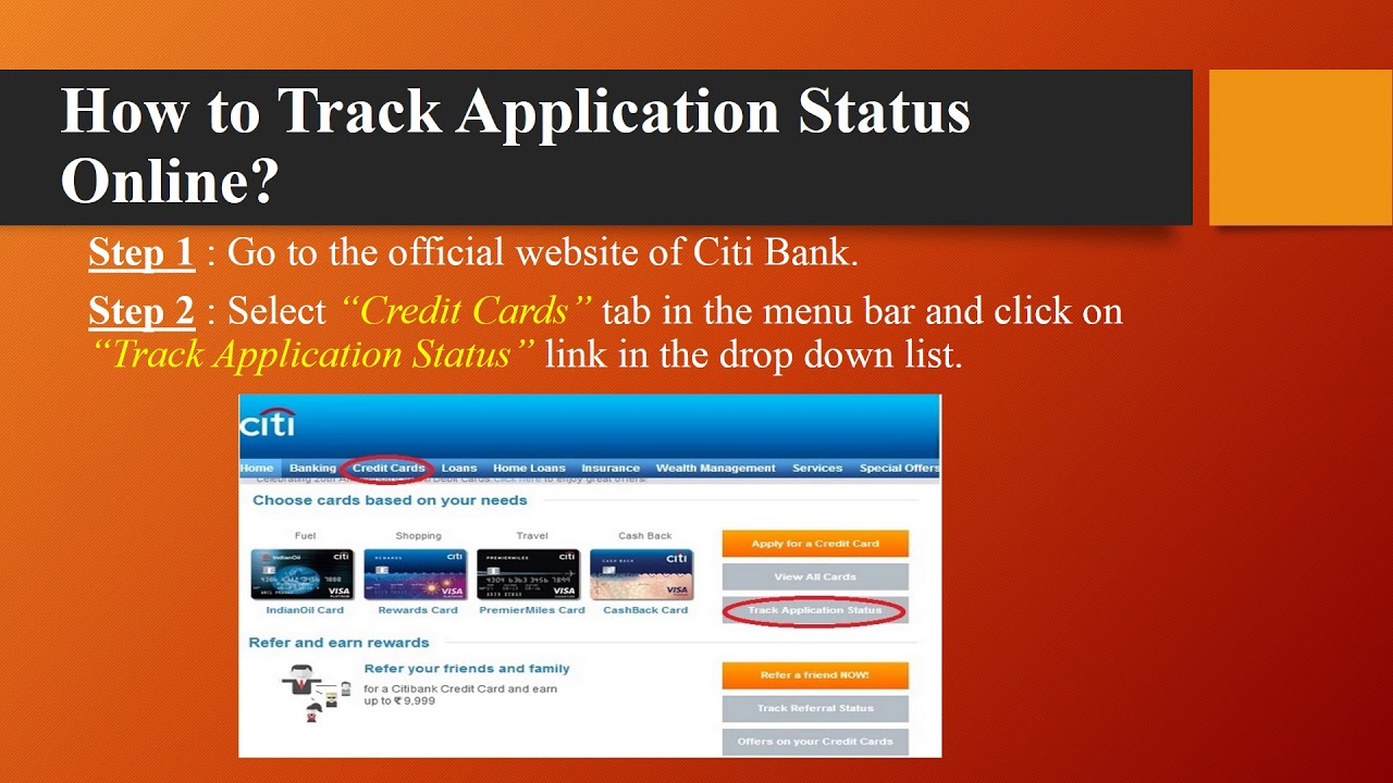 Citi Application Status >> Citibank Credit Card Application Status Online Sms