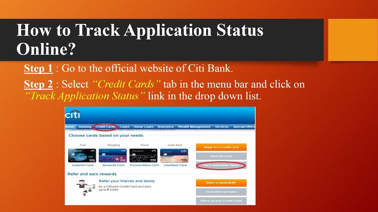 Citi Credit Card Application Status >> Citibank Credit Card Application Status Online Sms Youtube