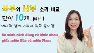 [베트남어 배우기] 북부와 남부 간의 같은 뜻인데 표기…